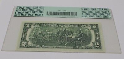 1976 Two Dollar Note $ 2 St. Louis PCGS Graded 63 PPQ Error Misalignment Bill