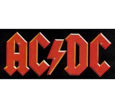 AC/DC: Red Logo sew-on woven patch  New Official