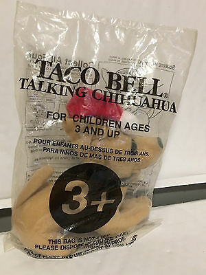 Mint Sealed Feliz Navidad Amigos Taco Bell Talking Chihuahua Stuffed Dog Toy