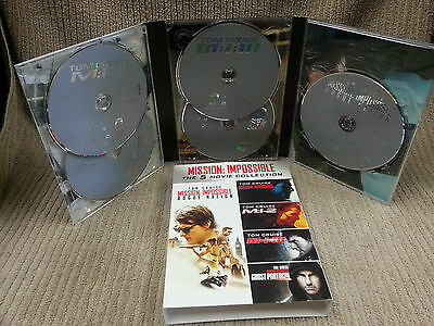 MISSION: IMPOSSIBLE THE 5 MOVIE COLLECTION 5-DISC SET TOM CRUISE Free Shipping!!