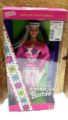 Native Indian Barbie Doll, 3rd Edition, Dolls Of The World Collection, NIB, NRFB