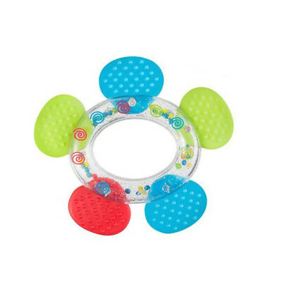 Baby Educational Rattle with Teether 3m+ Teething Toy, Flower