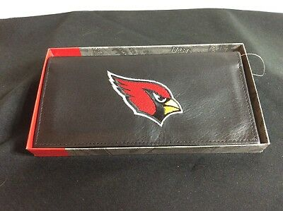 NFL Arizona Cardinals Black Leather Checkbook Officially Licensed Embroidered