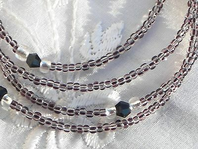 "Eyeglass Chain~Trendy Neutral Stripe~Crystal Accents~Handmade~28""Buy 3 SHIP FREE"