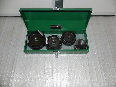 """Greenlee 7304 Knockout Punch Set for 2-1/2"""" THR 4"""" conduit 800,767,746,7310 NICE"""
