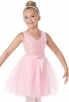 Dance Costume 6x-7 Child Pink Sequin Tutu Ballet Lyrical Solo CompetitionPageant