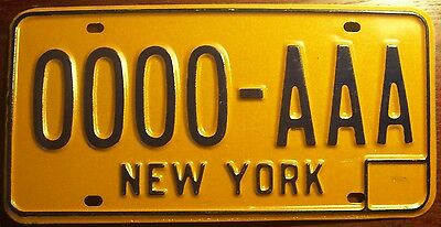 1980 New York Sample All Zeros License Plate Auto Tag 0000-Aaa Big Apple N.y.c.