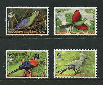 Swaziland: 1995 Turacos ('Louries') / Birds Set of 4 Stamps SG654-657 MNH AW094