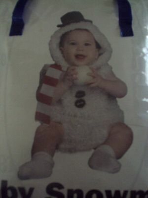 BABY SNOWMAN Costume ~ Boy or Girl ~ Size 0-6 months ~ NEW With Tags