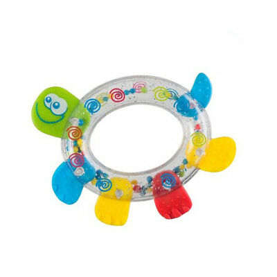 Baby Educational Rattle with Teether 3m+ Teething Toy, Turtle