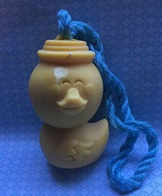 Vintage Avon Easter Quacker Soap On A Rope Duck W/Box