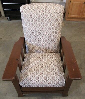Antique Morris Push Button Recliner Manufactured By Royal Chair Co