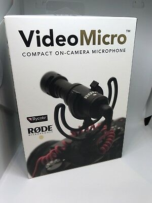 Rode VideoMicro Compact On-Camera Microphone - OPEN BOX - NEW