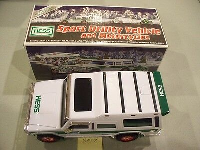 Hess Sport Utility Vehicle And Motorcycles 2004 New In Box Free Shipping