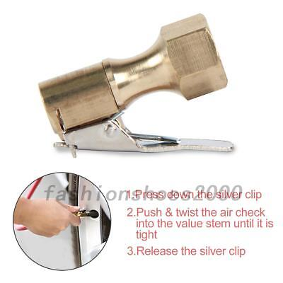 Open Air Flow Straight Lock-On Chuck with Clip for Tire Inflator 1/4 inch