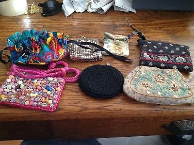 Lot Of Small Change Purses Used