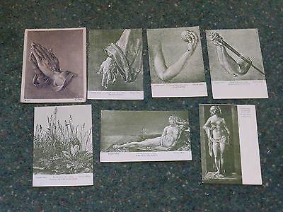 postcards: 7 cards; Sketches by Albrecht Durer. Unposted