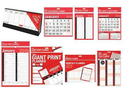 2018 Calendars Large Planner Easy Monthly View Giant Three Months Wall Calendar