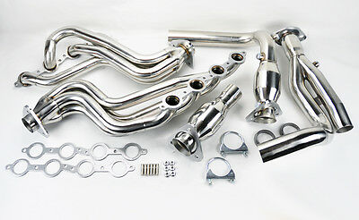 Avalanche Silverado Sierra Tahoe 00-06 4.8L 5.3L V8 Stainless Headers w/ Y Pipe