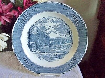 """Currier & Ives Serving Platter Early Winter - 11-1/2"""" Wide - Free Shipping"""