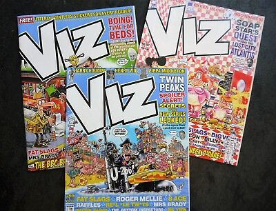 3 Current Viz Comic Magazines Issues 266 267 268 JULY AUG SEPT 2017