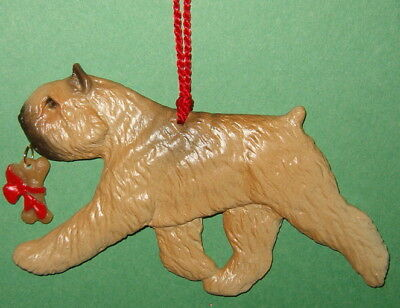 Bouvier Des Flandres-w/ bone charm-Fawn-Artist sculpted Dog Breed Ornament
