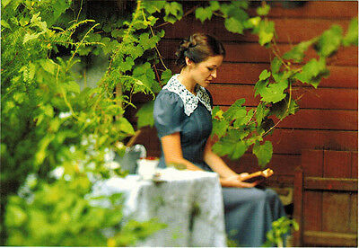 TURGENEV GIRL WITH BOOK AT SUMMER TIME Modern Russian postcard