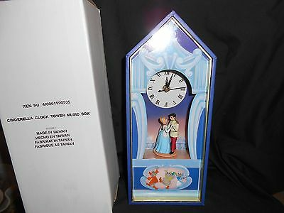 "Disney Store Cinderella Castle Music Box & Analog Clock ""so This Is Love """