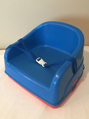 Safety 1st 2-in-1 Booster Feeding Seat and Step Stool, Red Blue, Vintage 1998