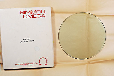 "New Omega Heat Absorbing 6 1/2"" Glass 473-106 f/ D 4 x 5 Condenser Enlarger"