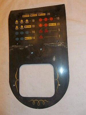 Slot Machine Parts Front Pay Card Plate  Bell Fruit