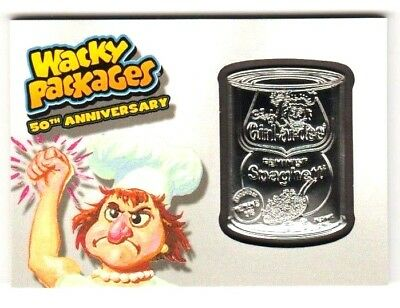 """2017 Wacky Packages 50th Anniversary GREY MEDALLION """"CHEF GIRL-AR-DEE"""" 09/50"""