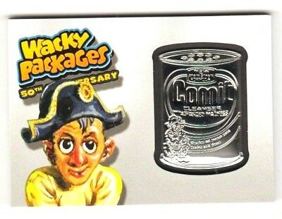 """2017 Wacky Packages 50th Anniversary GREY MEDALLION """"COMIT CLEANSER"""" 32/50 RARE!"""