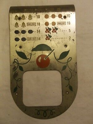 Slot Machine Parts Front Pay Card Plate  Metal