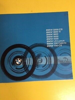 1964 BMW Full line Brochure. 700, 1500, 3200, 1800 TI 1600 700 and Motorcycles