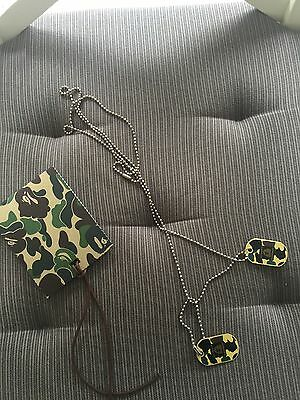 Bape Dog Tag Necklace Brand New Camo