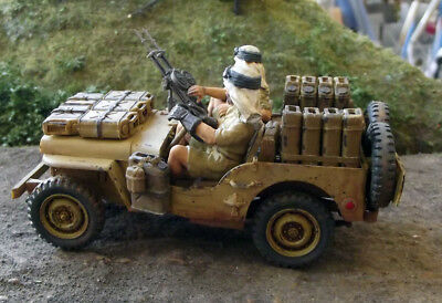 Sas Jeep Ww2 With Crew 1/35 Built From Tamiya Kit Nicely Detailed And Weathered