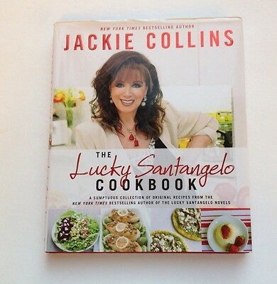 The Lucky Santangelo Cookbook HARDCOVER NEW Jackie Collins Book Author Recipes