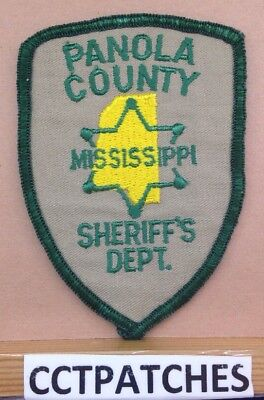 Panola County, Mississippi Sheriff (Police) Shoulder Patch Ms