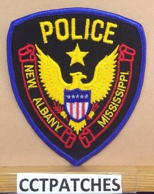 New Albany, Mississippi Police Stock Eagle Shoulder Patch Ms