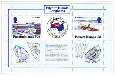 Pitcairn Island 1984 AUSIPEX Sheetlet  set  - Mint Hinged