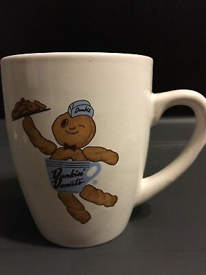 2010 Dunkin Donuts Dunkie Donut Man Collectable White Coffee Mug