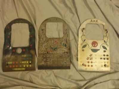 3 Slot Machine Parts Front Pay Card Plate