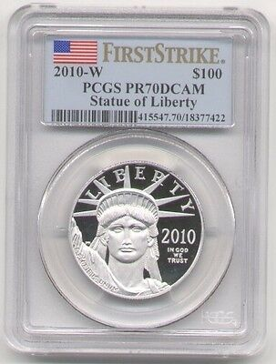 2010-W $100 PLATINUM EAGLE 1 Oz. PCGS PF70  FIRST STRIKE