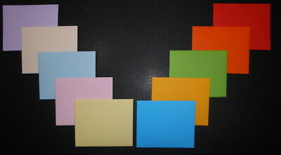 HANDMADE  MINI  ENVELOPES - Pack of 10 - 100mm x 80mm ~10 COLOURS - CARDMAKING