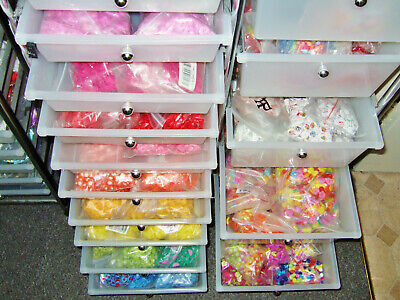 CRAFT SUPPLIES & JEWELLERY stock - ideal small home business - beads buttons etc