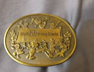 Rare Vintage Walt Disney World Mickey Mouse Marching Band Belt Buckle