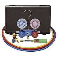 134A Aluminum Manifold Gauge Set with 60' Hoses and Standard Couplers