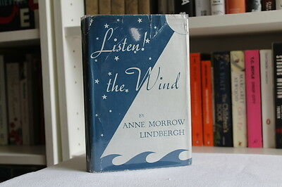 Anne Morrow & Charles Lindbergh, 'Listen! The Wind', SIGNED UK first edition