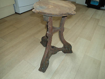 Industrial Victorian Antique Cast Iron revolving table or seat stand